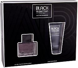 Perfumería y cosmética Antonio Banderas Seduction in Black - Set (eau de toilette/50ml + bálsamo aftershave/50ml)