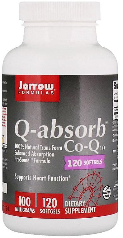 Complemento alimenticio en cápsulas de coenzima Q10, 100mg, 120 cáp. - Jarrow Formulas Q-Absorb 100 mg