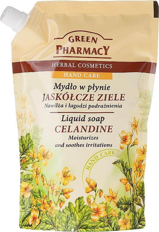 Jabón de manos líquido con extracto de celidonia (recarga doypack) - Green Pharmacy Celandine Liquid Soap