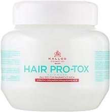 Perfumería y cosmética Mascarilla capilar con queratina, colágeno y ácido hialurónico - Kallos Cosmetics Pro-Tox Hair Mask