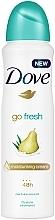 Perfumería y cosmética Desodorante con aroma a pera y aloe vera - Dove Go Fresh Pear & Aloe Vera Scent