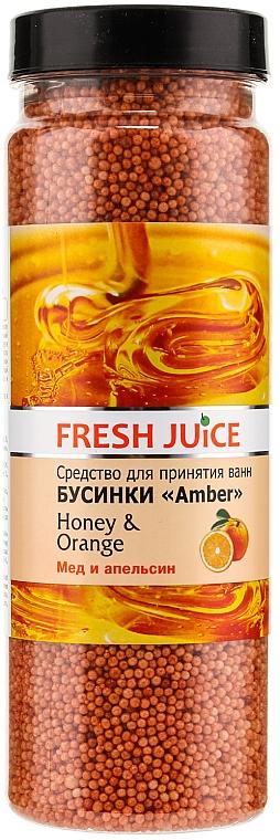 Perlas de baño con miel & naranja - Fresh Juice Bath Bijou Amber Honey and Orange