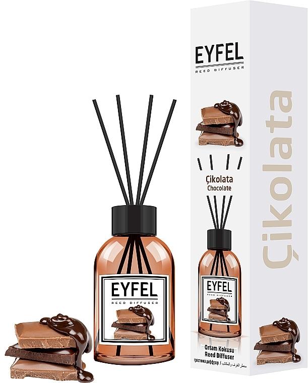 Ambientador Mikado con aroma a chocolate - Eyfel Perfume Reed Diffuser Chocolate