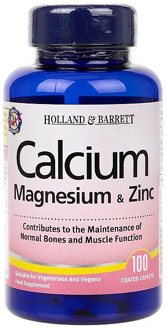 Complemento alimenticio en cápsulas de calcio, magnesio y zinc - Holland & Barrett Calcium Magnesium & Zinc