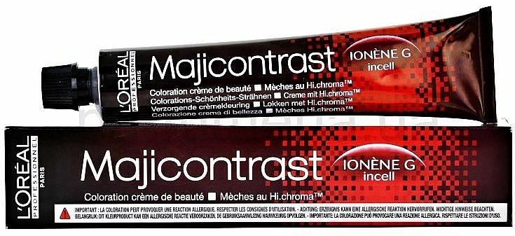 Tinte en crema para cabello - L'Oreal Professionnel Majirel/Majicontrast (sin oxidante incluido) — imagen N4