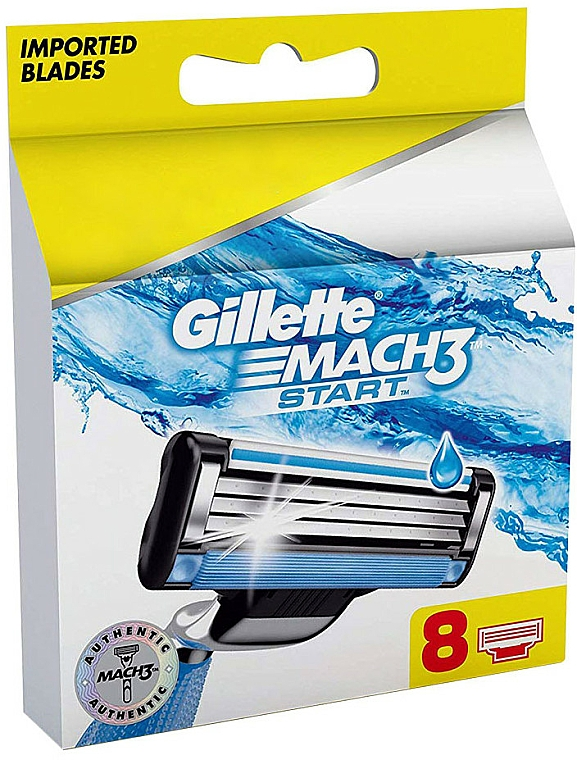 Recambios de cuchillas, 8uds. - Gillette Mach3 Start