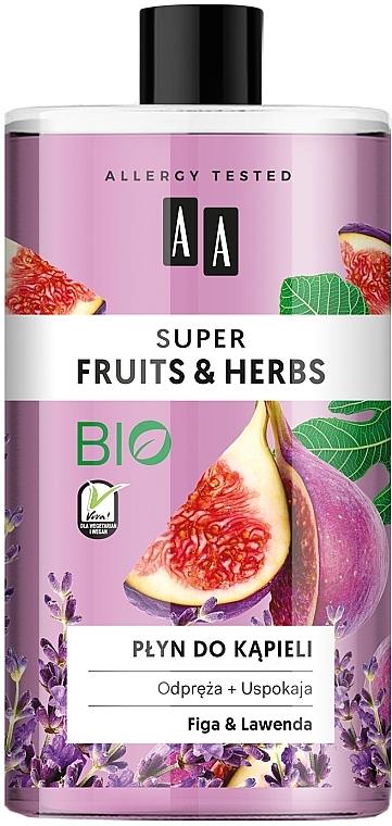 Espuma de baño con extractos de higo y lavanda - AA Super Fruits & Herbs Bath Foam