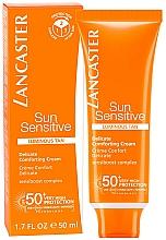 Perfumería y cosmética Crema solar para rostro, cuello y escote SPF50 - Lancaster Sun Sensitive Delicate Comforting Cream SPF 50+