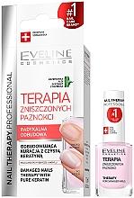 Perfumería y cosmética Tratamiento reparador para uñas dañadas con queratina, extracto de bambú - Eveline Cosmetics Nail Therapy Professional Therapy For Damage Nails