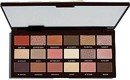 Perfumería y cosmética Paleta de sombras de ojos, 18 colores - I Heart Revolution Chocolate Palette
