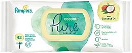 Perfumería y cosmética Toallitas húmedas para bebés sin alcohol con aceite de coco, 42uds. - Pampers Pure Coconut
