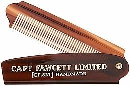 Perfumería y cosmética Peine de barba plegable, CF82T - Captain Fawcett Folding Pocket Beard Comb
