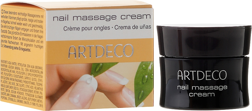 Crema de masaje de uñas restauradora con proteínas de seda y vitaminas A y E - Artdeco Nail Massage Cream — imagen N1