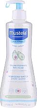 Perfumería y cosmética Agua limpiadora para bebés con extracto de aguacate para pieles normales, sin aclarado - Mustela Cleansing Water No-Rinsing With Avocado