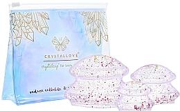 Perfumería y cosmética Set de masaje corporal , masajeadores de silicona - Crystallove Crystal Body Cupping Set
