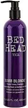 Perfumería y cosmética Champú con pigmentos de tonos violetas, neutralizante de tonos cobrizos y amarillos - Tigi Dumb Blonde Purple Toning Shampoo