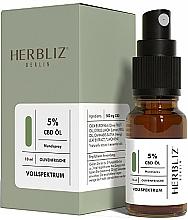 Perfumería y cosmética Spray bucal 100% natural vegano con aceite de oliva y 5% CDB - Herbliz CBD Olive Fresh Oil Mouth Spray 5%