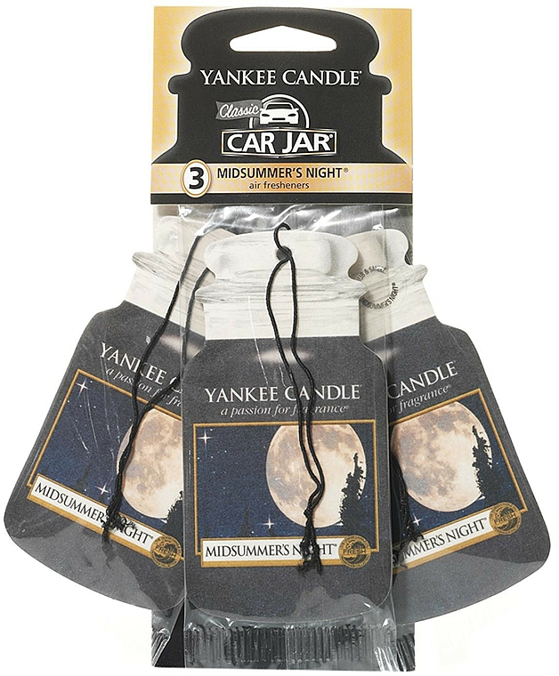Set ambientador de coche con aroma almizcle, pachulí, salvia - Yankee Candle Car Jar Midsummers Night