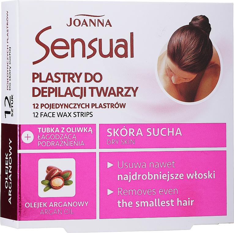 Bandas de cera depilatoria faciales con aceite de argán - Joanna Sensual Depilatory Face Strips