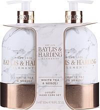 Perfumería y cosmética Set (jabón líquido/500ml + loción/500ml) - Baylis & Harding White Tea & Neroli Hand Care Set