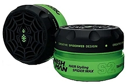 Perfumería y cosmética Cera moldeadora a base de agua, fijación fuerte, efecto tela de araña - Nishman Hair Styling Spider Wax S2 Tarantula