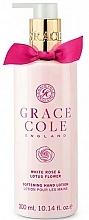 Perfumería y cosmética Loción de manos con rosa blanca & flor de loto - Grace Cole White Rose & Lotus Flower Hand Lotion