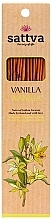 Perfumería y cosmética Varitas de incienso con aroma a vainilla - Sattva Vanilla