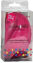 Perfumería y cosmética Cepillo de pelo desenredante, fucsia - Rolling Hills Compact Detangling Brush Fuschia