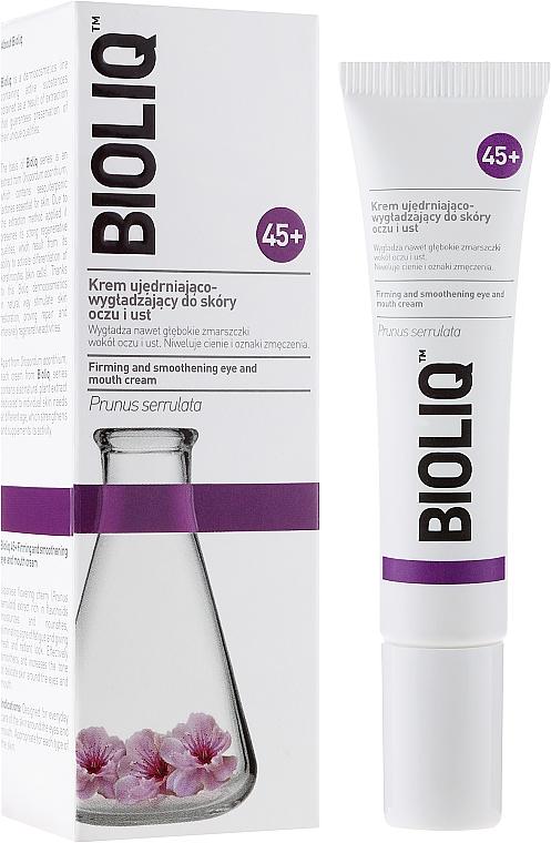 Crema suavizante para contorno de ojos y labios con aceite de macadamia - Bioliq 45+ Firming And Smoothening Eye And Mouth Cream