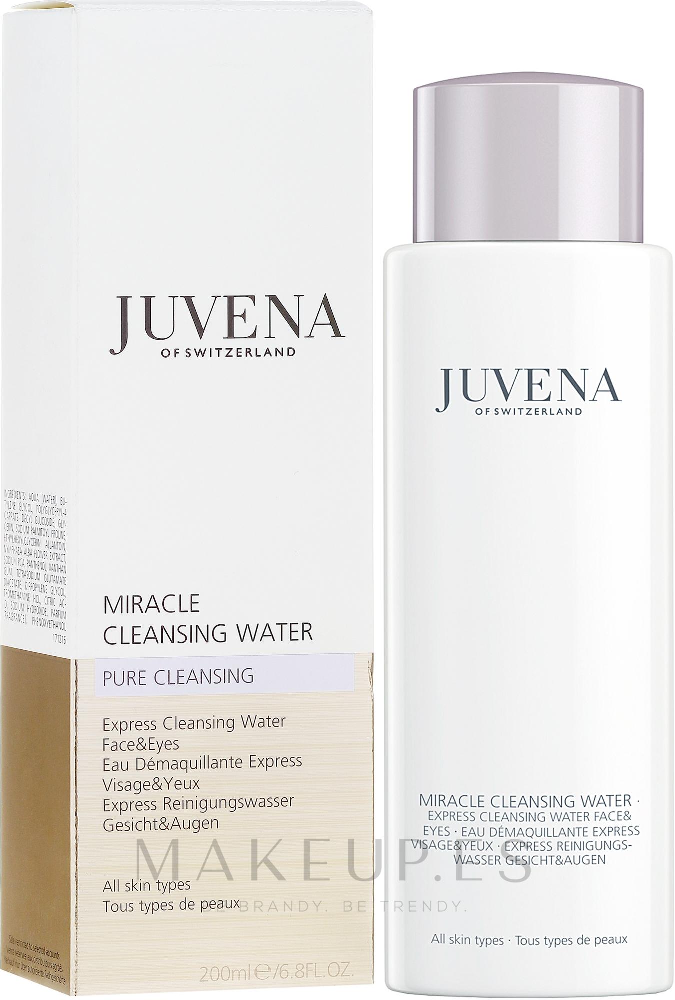Agua micelar para rostro y ojos con extracto de nenúfar blanco y pantenol - Juvena Pure Cleansing Miracle Cleansing Water — imagen 200 ml