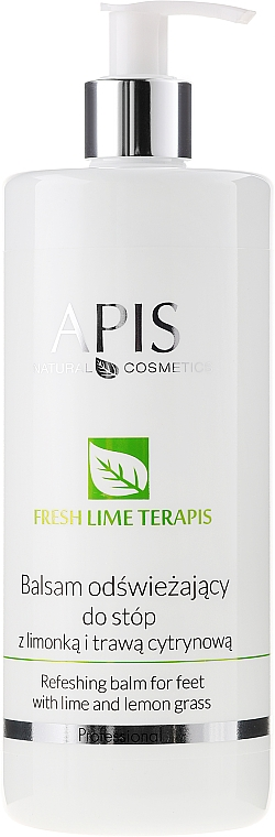 Bálsamo para pies con lima & citronela - APIS Professional Refreshing Balm For Feet With Lime And Lemon Grass — imagen N1
