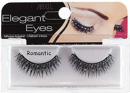 Pestañas postizas con pegamento incluido - Ardell Elegant Eyes Romantic Black — imagen N1