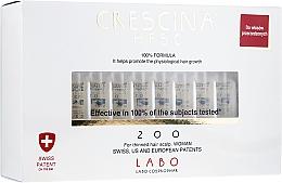 Perfumería y cosmética Tratamiento en ampollas para el crecimiento del cabello 200 - Labo Crescina HFSC 200 Re-Growth Woman