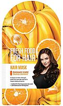 Perfumería y cosmética Mascarilla capilar para cabello dañado con extracto de naranja y plátano - Superfood For Skin Fresh Food For Hair