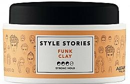 Perfumería y cosmética Pomada para cabello con fijación fuerte con aceite de recino - Alfaparf Style Stories Funk Clay Strong Hold