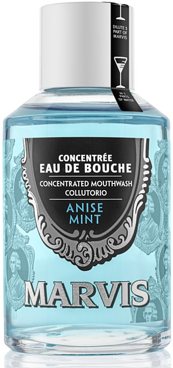 Enjuague bucal antibacteriano con anís y menta - Marvis Concentrate Anise Mint Mouthwash