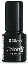 Perfumería y cosmética Esmalte capa superior gel puro UV - Silcare Color IT Premium Hybrid Top Coat Gel
