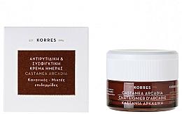 Perfumería y cosmética Crema de día reafirmante con extracto de castaño de arcadia - Korres Castanea Arcadia Antiwrinkle&Firming Day Cream For Dry and Very Dry Skin