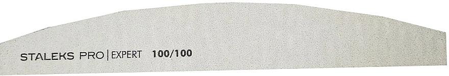Lima de uñas mineral, media luna, grano 100/100 - Staleks Pro NFB-40/4