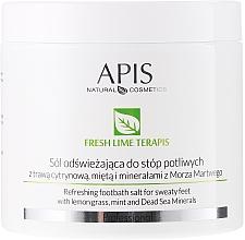 Perfumería y cosmética Sales refrescantes para pies con extracto de limoncillo - APIS Professional Fresh Lime Terapis Lime Peeling For Feet With Volcanic Lava