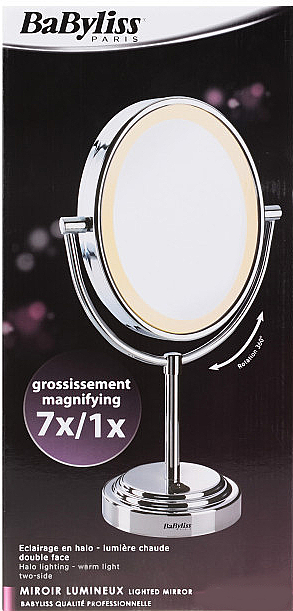 Espejo cosmético doble cara, 8437E - BaByliss — imagen N2