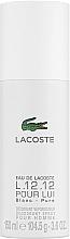 Perfumería y cosmética Lacoste Eau De L.12.12 Blanc - Desodorante spray