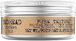 Perfumería y cosmética Pasta moldeadora de fijación media con manteca de karité - Tigi Bed Head Men Pure Texture