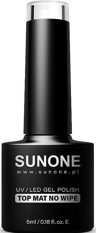 Top coat gel matificante, UV/LED sin capa pegajosa - Sunone UV/LED Gel Polish Top Mat No Wipe