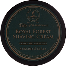 Perfumería y cosmética Crema de afeitar con aroma a bergaota y manzana - Taylor of Old Bond Street Royal Forest