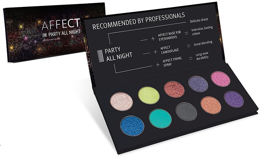 Paleta de sombras de ojos - Affect Cosmetics Party All Night Eyeshadow Palette