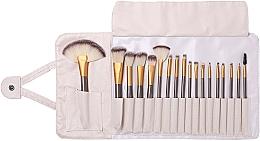 Perfumería y cosmética Set profesional de brochas y pinceles de maquillaje, 18uds. + funda - Lewer