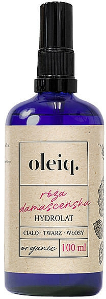 Hidrolato para cuerpo, rostro y cabello de rosa damascena - Oleiq Damask Rose Hydrolat