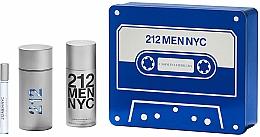 Perfumería y cosmética Carolina Herrera 212 Men NYC - Set (eau de toilette/100ml + desodorante/150ml + eau de toilette/mini/10ml)