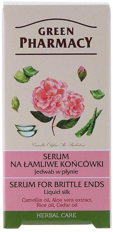 Seda líquida para puntas quebradizas con aceite de camelia - Green Pharmacy